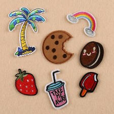 8Pcs Lovely EmbroideryBadge Bag Clothes Fabric Applique Craft Sew Iron On Patch