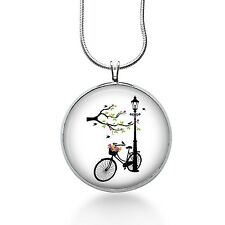 Bicycle Necklace, Bicycle Pendant, Retro Bicycle Jewellery, Bike Necklace,silhou