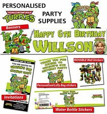 Personalised TMNT Birthday Party Banner Decorations