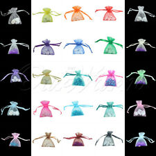 200X Strong Organza Pouch H Shape Wedding Party Favor Gift Candy Bag Color 5*7CM