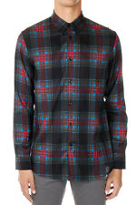 MARC JACOBS New Men Multicolor Viscosa Checked Buttons Shirt Made in Italy NWT