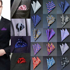 Square Men Pocket Satin Solid Floral Handkerchief Paisley Floral Hanky Party CHI