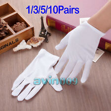 1/3/5/10 Pairs White 100% Cotton Gloves Antique eczema Coin Handling Inspection