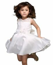 Flower Girl Dress Baby Kids Embroidered Wedding Bridesmaid Party Christening