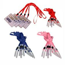 10Pcs Necklace Neck Strap Lanyard Cord For ID Pass Card Badge Key With PVC Hook