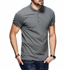 M L XL XXL Mens Casual Polo shirt 100% Cotton Lapel Short Sleeve Solid T-shirt