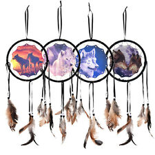 Handmade Dream Catcher With Feathers Wall Hanging Decoration Ornament-Wolf BDAU