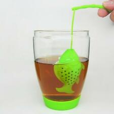 Teacup Tea Strainer Fishing Design Silicone Creative Perfect Strainer Teapot