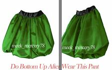 Hot Girl Satin Bubble Short Pant Bloomer Womens Casual Wear With Elastic S~3XL