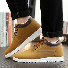 Mens Winter Snow Boots Suede Sneakers Thicken Cotton Warm Flat  Casual Shoes New