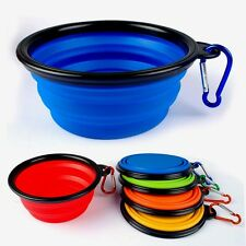 Silicone Collapsible Feeding Bowl Dog Water Dish Cat Portable Feeder Puppy Pet