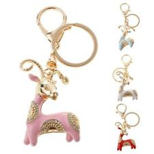 Goat Charm Pendant Crystal Purse Handbag Car Keychain Key Chain Ring Party Gifts