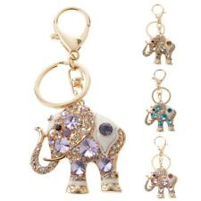 Elephant Keychain Crystal Keyring Key Ring Chain Bag Car Purse Charm Pendant Hot