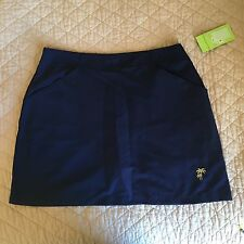 Women's Golf Skort Petite Navy Blue Skirt Allyson Whitmore NWT