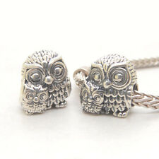 Authentic S925 Sterling Silver Charming Owls Mom embrace baby CHARM BEAD