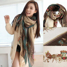 Retro Women's Girl's Elegant Comfy Classic Pattern Chic Voile Scarf Shawl Wraps