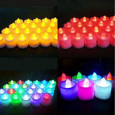 Christmas LED Candle Flameless Flickering Tea Light Battery Wedding Night Light