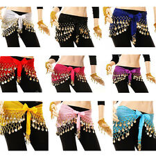 Sexy Womens Belly Dance Costume Colorful Coin Sequins Hip Scarf Skirt Wrap