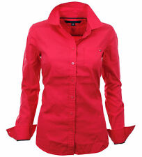 TOMMY HILFIGER WOMEN'S BLOUSE WOMENS BLOUSE BUSINESS RED SIZE SELECTABLE