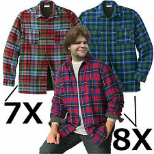 Lined Shirt/Jacket Plaid Flannel Big/Tall Very Soft NWT Hard-To-Find Sizes 5X-8X