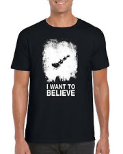 """I Want to Believe""  Santa Christmas Holiday X-Files Inspired T-Shirt"