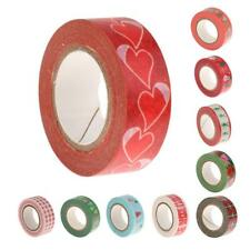 10pcs 15mm Paper Washi Decorative Tape Sticker Christmas Décor Scrapbook Craft