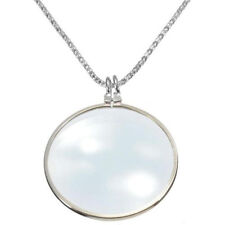 Utility Monocle Lens Necklace With 6x Magnifier Coin Magnifying Glass Pendant