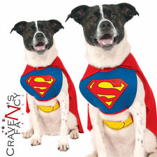 Dog Superman Costume Superhero Christmas Halloween Party Fancy Dress Pet Cat New