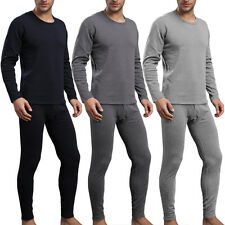 Men 2Pcs Cotton Thermal Underwear Set Winter Warm Thicken Long Johns Tops Bottom