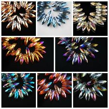 Dagger Teardrop Faceted Glass Crystal Spacer Beads Charms Findings Pendant 20mm
