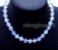 "SALE Beautiful! Big 12mm High Quality Round Blue Opal 17"" Necklace-nec6078"