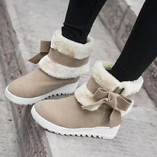 Womens Winter Warm Faux suede hidden wedge heels Leisure Snow Ankle Boots