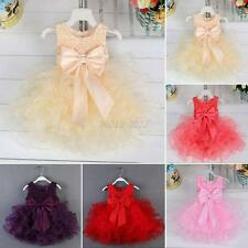 Toddler Baby Girl Clothes Flower Princess Dress Wedding Party Pageant TUTU Dress