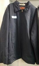 Pre-owned Cintas NAVY BLUE Insulated Uniform Work Jacket Zip-up Mechanic Style