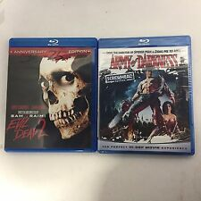 EVIL DEAD 2 25th anniversary and ARMY OF DARKNESS screwhead edition bluray dvds