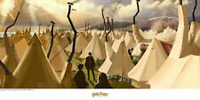Harry Potter Tent City Warner Brothers LE 250 9x21 Paper Signed NEW JK Rowling
