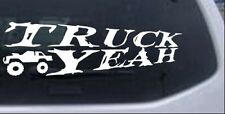 Truck Yeah With Truck Car Truck Window Laptop Decal Sticker 4X4 Off Road 10X3.2