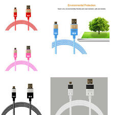 5 Colors Braided Micro USB Data&Sync Charger Cable  For Samsung Galaxy S6/S7 Lot