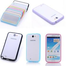 Bumper Transparent Soft Back Case Cover For Samsung Galaxy Note 2 II N7100 N7105