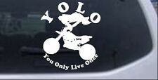 YOLO Only Live Once Dirt Bike Trick Car Truck Window Decal Sticker 10X8.8