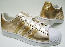 Adidas Superstar Metallic Rose Gold Leather White Womens Girls Trainers BA7664