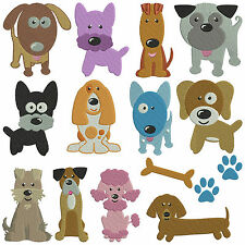 DOGS 1 * Machine Embroidery Patterns * 14 designs x 2 sizes