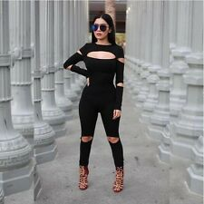 Women Full Sleeve Jumpsuits and Rompers Sexy Club Jumpsuits and Rompers