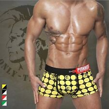 Fashion Mens Cotton Cool Printed Cartoon Underwear Stretch Brief Boxers Shorts