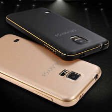 For Samsung Galaxy S5 Luxury Aluminum Metal Bumper Frame + PC Back Case Cover