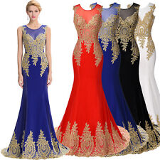 FREE SHIP Long Mermaid Bridesmaid Evening Formal Party Cocktail Dress Gown Prom