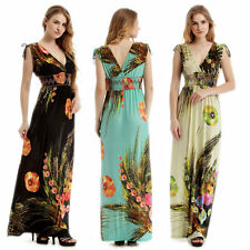 Women Celeb Sexy Floral Boho Long Maxi Dress Ladies Summer Beach Party Sun Dress