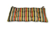 Draw the Line Fiesta~ Striped~Tufted Cushion for Bench~Swing~Glide Choose Size