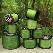 1 Spool 300-1000M Army Green Fishing Line Strong Spectra Braided Salt Freshwater