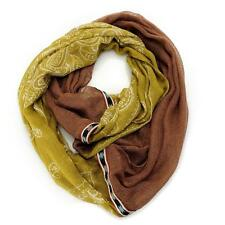 NEW - Collection XIIX Woven Bandana Print Ribbon Trimmed Infinity Scarf